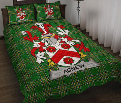 Agnew Ireland Quilt Bed Set Irish National Tartan | Over 1400 Crests | Home Set | Bedding Set