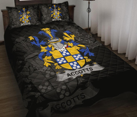 Irish Quilt Bed Set, Accotts Family Crest Premium Quilt And Pillow Cover A7