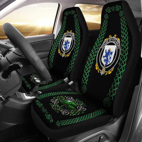 Fitz-Rery Ireland Shamrock Celtic Irish Surname Car Seat Covers | 1st Ireland