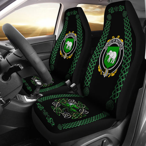 Butcher Ireland Shamrock Celtic Irish Surname Car Seat Covers | 1st Ireland