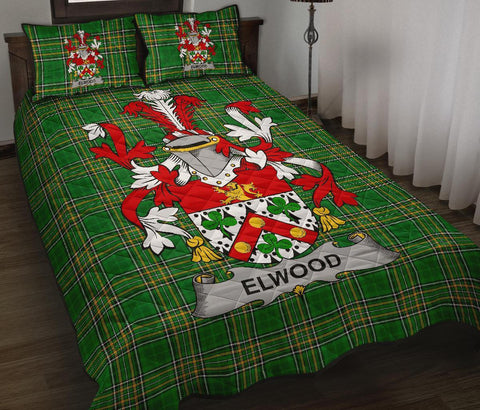 Image of Elwood Ireland Quilt Bed Set Irish National Tartan | Over 1400 Crests | Home Set | Bedding Set