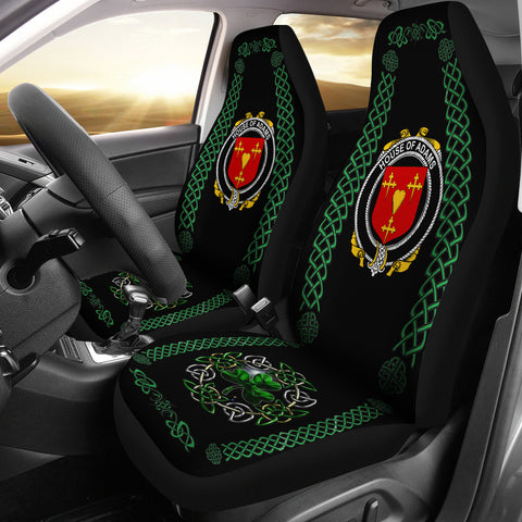 Adams Ireland Shamrock Celtic Irish Surname Car Seat Covers | 1st Ireland