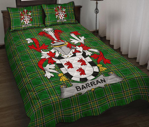 Barran Ireland Quilt Bed Set Irish National Tartan | Over 1400 Crests | Home Set | Bedding Set