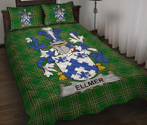 Ellmer Ireland Quilt Bed Set Irish National Tartan | Over 1400 Crests | Home Set | Bedding Set