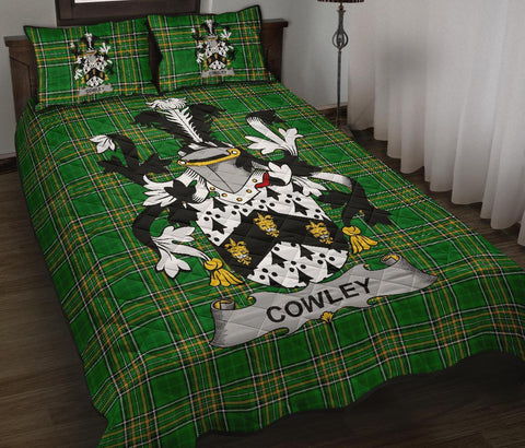 Cowley or Cooley Ireland Quilt Bed Set Irish National Tartan | Over 1400 Crests | Home Set | Bedding Set