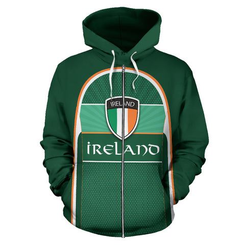 Ireland All Over Print Zip-Up Hoodie | 1stireland.com