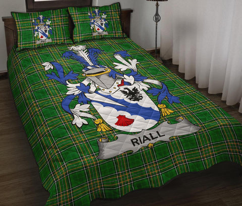 Riall or Ryle Ireland Quilt Bed Set Irish National Tartan | Over 1400 Crests | Home Set | Bedding Set