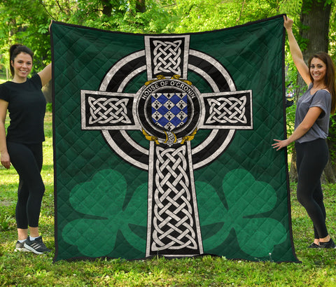 Irish Quilt, Cronin or O'Cronin Family Crest Premium Quilt TH47