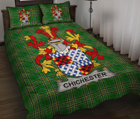 Image of Chichester Ireland Quilt Bed Set Irish National Tartan | Over 1400 Crests | Home Set | Bedding Set