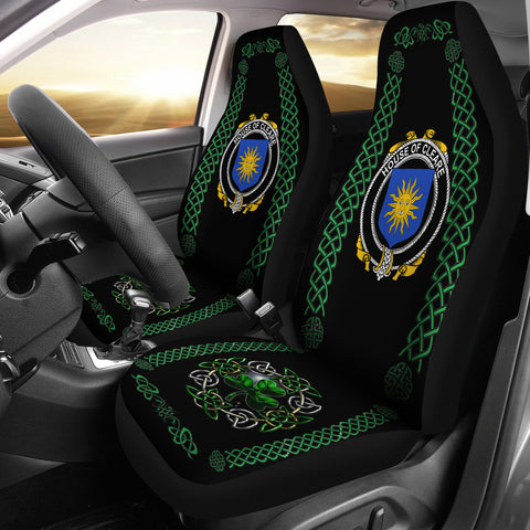 Cleare Ireland Shamrock Celtic Irish Surname Car Seat Covers | 1st Ireland