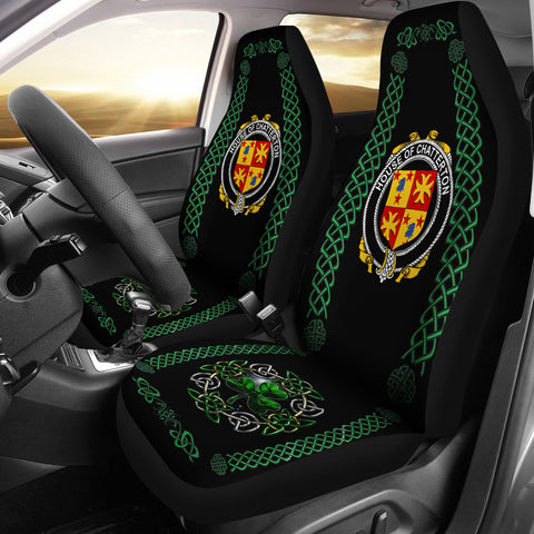Image of Chatterton Ireland Shamrock Celtic Irish Surname Car Seat Covers | 1st Ireland