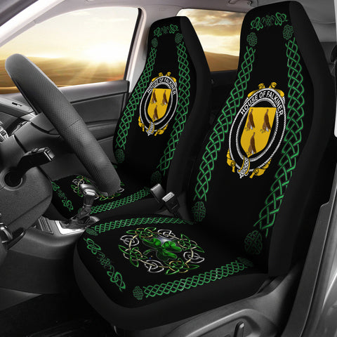 Falkiner Ireland Shamrock Celtic Irish Surname Car Seat Covers | 1st Ireland
