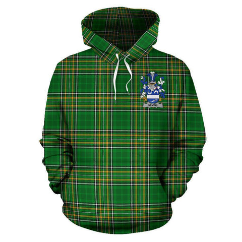 Nevins or McNevins Ireland Hoodie Irish National Tartan (Pullover) A7
