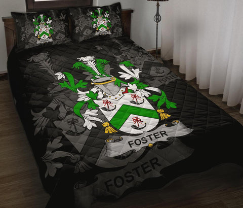 Irish Quilt Bed Set, Foster Family Crest Premium Quilt And Pillow Cover A7