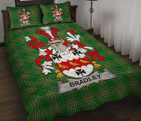 Image of Bradley Ireland Quilt Bed Set Irish National Tartan | Over 1400 Crests | Home Set | Bedding Set