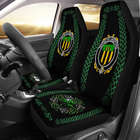 Image of Langford Ireland Shamrock Celtic Irish Surname Car Seat Covers | 1st Ireland