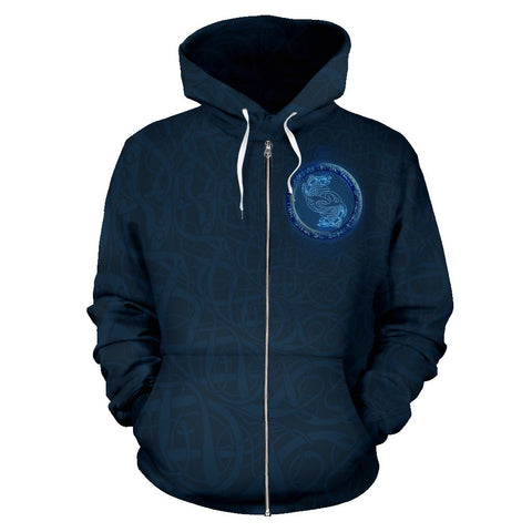 Celtic  All Over Zip-Up Hoodie - Salmon