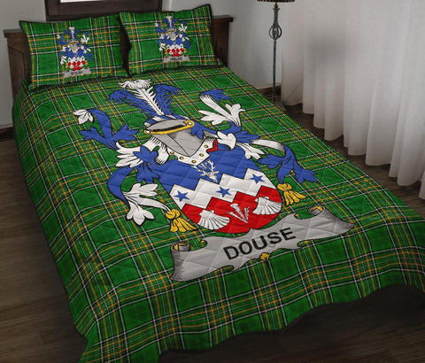 Image of Douse or Dowse Ireland Quilt Bed Set Irish National Tartan | Over 1400 Crests | Home Set | Bedding Set
