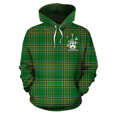 Fitz-Allen Ireland Hoodie Irish National Tartan (Pullover) A7