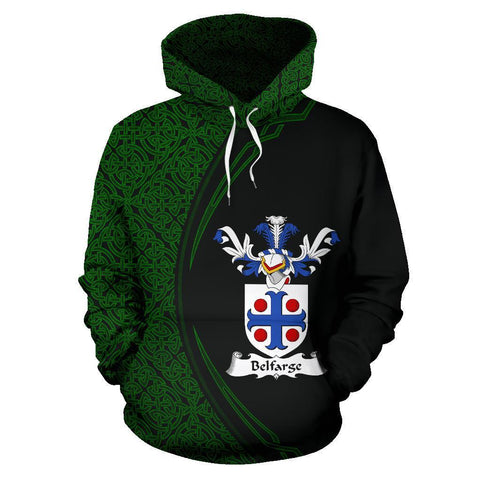Belfarge or Belfrage Family Crest Hoodie Irish Circle Style | 1st Ireland