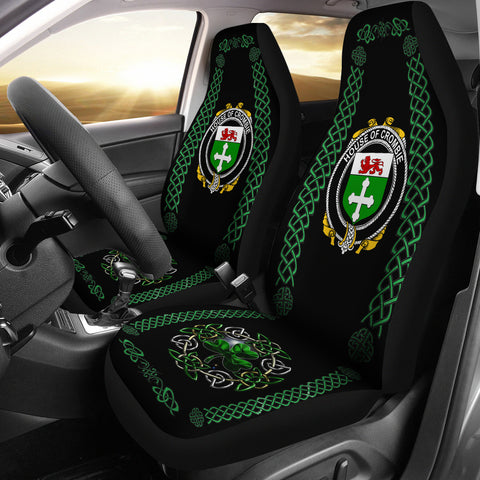 Crombie Ireland Shamrock Celtic Irish Surname Car Seat Covers | 1st Ireland