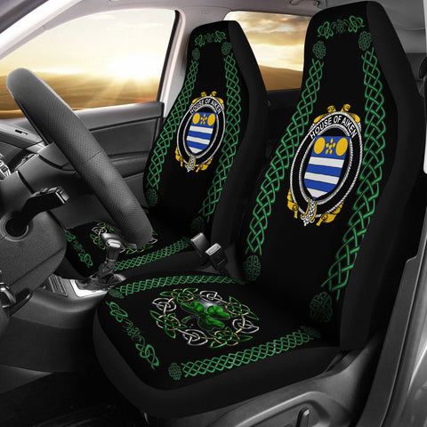 Aiken Ireland Shamrock Celtic Irish Surname Car Seat Covers | 1st Ireland