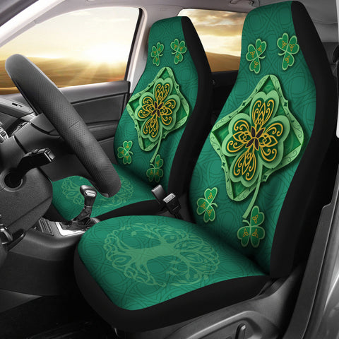 Image of Irish Shamrock Car Seat Covers 1