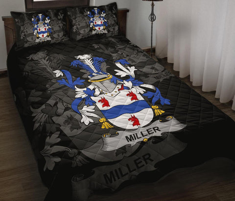 Irish Quilt Bed Set, Miller Family Crest Premium Quilt And Pillow Cover A7