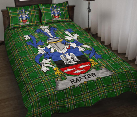 Rafter Ireland Quilt Bed Set Irish National Tartan | Over 1400 Crests | Home Set | Bedding Set
