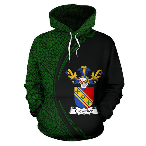 Crowther Family Crest Hoodie Irish Circle Style | 1st Ireland
