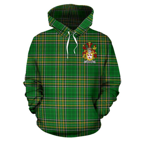 Cairnes Ireland Hoodie Irish National Tartan (Pullover) A7