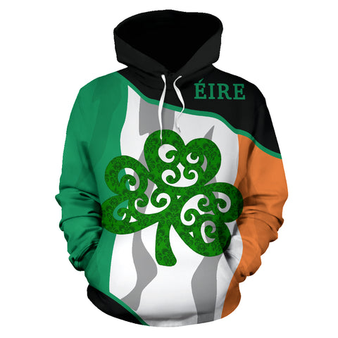 Image of Eire Zip-up Hoodie Shamrock Flag Fly In Me | 1stireland.com