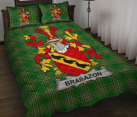 Brabazon Ireland Quilt Bed Set Irish National Tartan | Over 1400 Crests | Home Set | Bedding Set