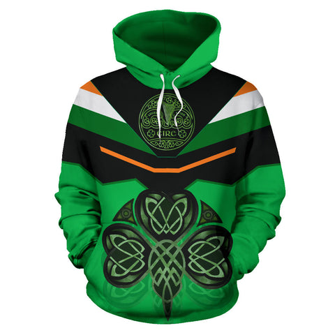 Ireland Celtic Shamrock Hoodie - Green Color - Front