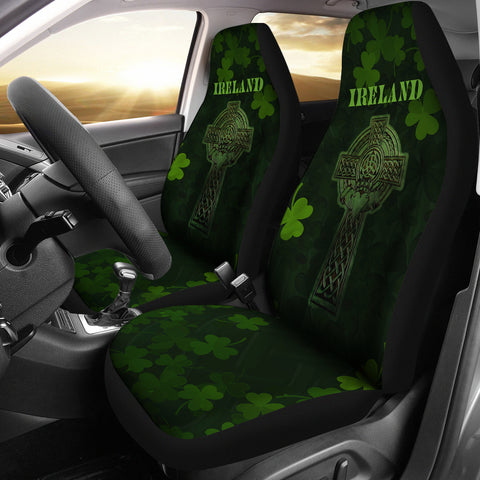 Image of Irish Celtic Claddagh Cross Car Seat Covers 2