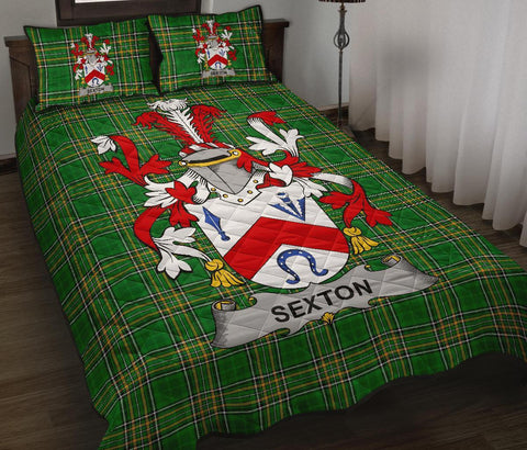 Sexton Ireland Quilt Bed Set Irish National Tartan | Over 1400 Crests | Home Set | Bedding Set