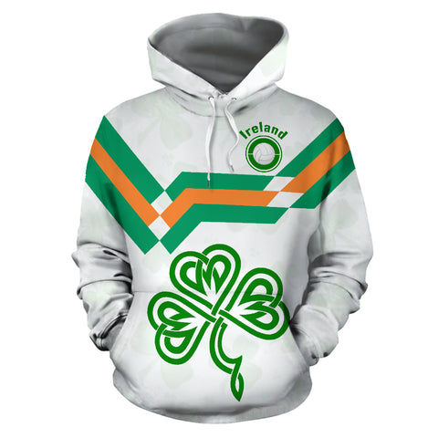 Image of Ireland Hoodie Celtic Shamrock - Football Style