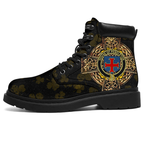 Pendleton Family Crest Shamrock Gold Cross 6-inch Irish All Season Boots | 1st Ireland