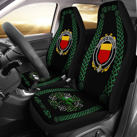 McCarron Ireland Shamrock Celtic Irish Surname Car Seat Covers | 1st Ireland