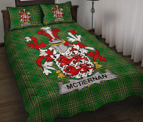 Image of McTiernan or Kiernan Ireland Quilt Bed Set Irish National Tartan | Over 1400 Crests | Home Set | Bedding Set