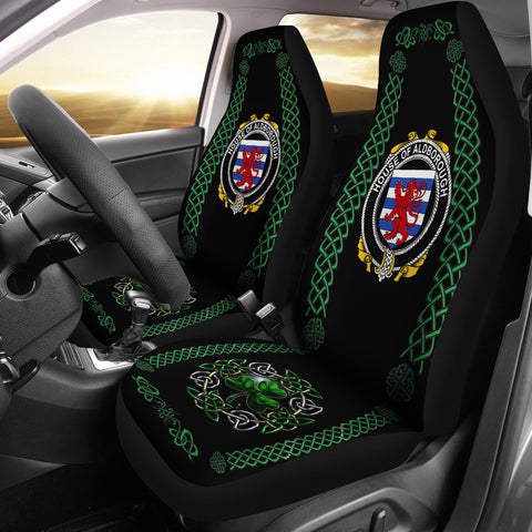 Aldborough Ireland Shamrock Celtic Irish Surname Car Seat Covers | 1st Ireland
