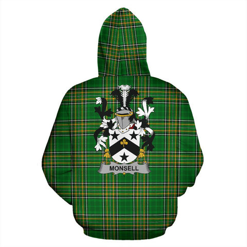 Monsell Ireland Hoodie Irish National Tartan (Pullover) | Women & Men | Over 1400 Crests
