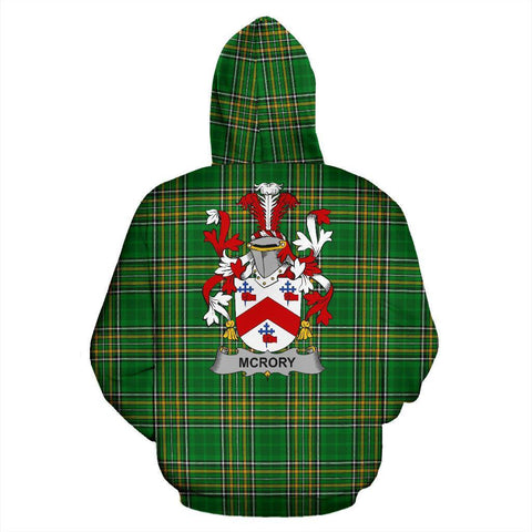 McRory or McCrory Ireland Hoodie Irish National Tartan (Pullover) | Women & Men | Over 1400 Crests