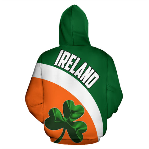 Image of Ireland Hoodie Flag Color Wave
