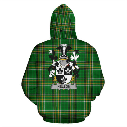 Nelson or Nealson Ireland Hoodie Irish National Tartan (Pullover) | Women & Men | Over 1400 Crests