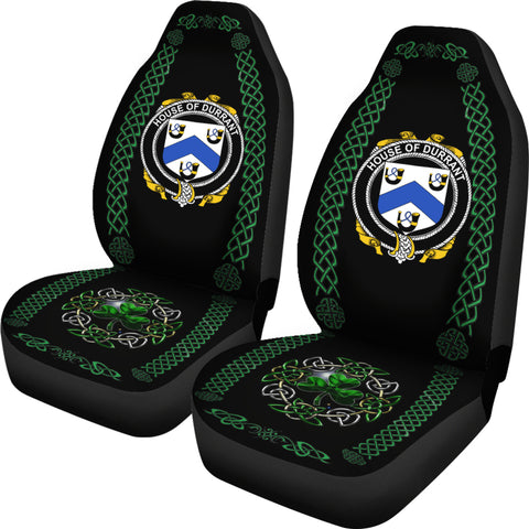 Image of Durrant Ireland Shamrock Celtic Irish Surname Car Seat Covers TH7