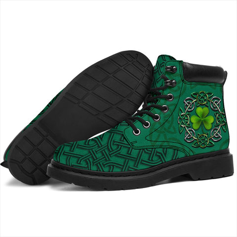 Irish St Patrick's Day Boots, Ireland Celtic Clover All Season Boots Shamrocks | 1stireland