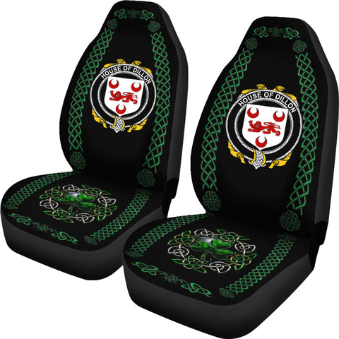 Image of Dillon Ireland Shamrock Celtic Irish Surname Car Seat Covers TH7