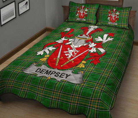 Dempsey or O'Dempsey Ireland Quilt Bed Set Irish National Tartan | Over 1400 Crests | Home Set | Bedding Set