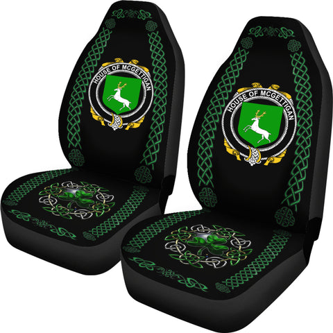 McGettigan or Gethin Ireland Shamrock Celtic Irish Surname Car Seat Covers TH7